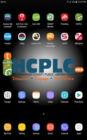 Screenshot take from HCPLC Galaxy tablet