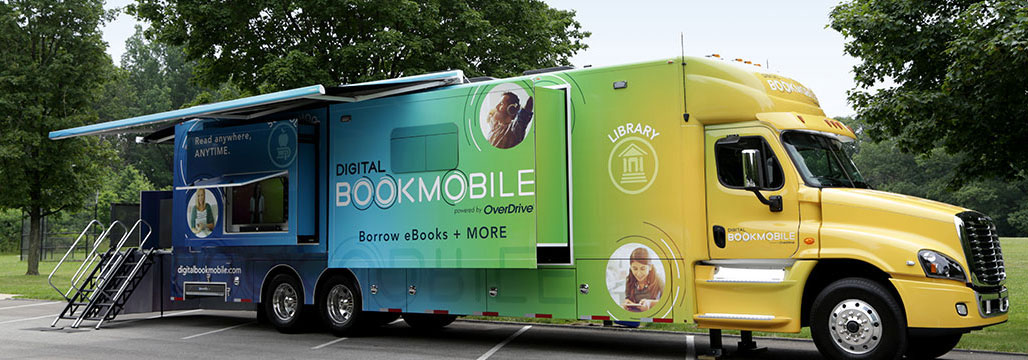 Overdrive Digital Bookmobile truck
