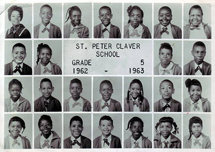 St. Peter Claver 9th grade graduation class of 1948