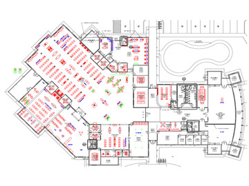 Detailed floor map of planned building